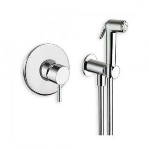 Гигиенический душ скрытого монтажа Cristina (цвет - хром)