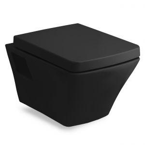 Унитаз повесной Volle Teo с сиденьем Soft Close, чёрный