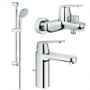 Набор смесителей для ванны 3-в-1 Grohe Eurosmart Cosmopolitan M-Size (цвет - хром)