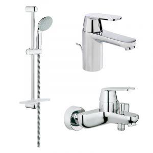 Набор смесителей для ванны 3-в-1 Grohe Eurosmart Cosmopolitan S-Size (цвет - хром)