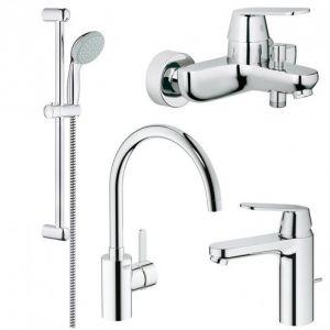 Набор смесителей для ванны 4-в-1 Grohe Eurosmart Cosmopolitan S-Size (цвет - хром)