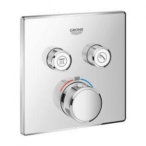 Термостат скрытого монтажа с двумя кнопками управления Grohe Grohtherm SmartControl (цвет - хром)