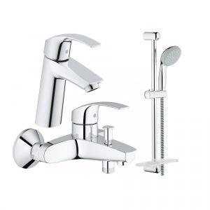 Набор смесителей для ванны 3-в-1 Grohe Eurosmart M (цвет - хром)
