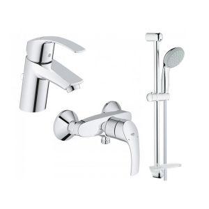 Набор смесителей для ванны 3-в-1 Grohe Eurosmart S (цвет - хром)