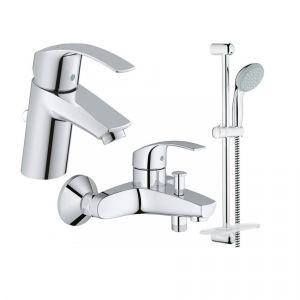 Набор смесителей для ванны 3-в-1 Grohe Eurosmart (цвет - хром)