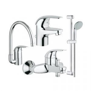 Набор смесителей для ванны 4-в-1 Grohe Euroeco (цвет - хром)
