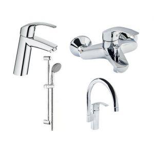 Набор смесителей для ванны 4-в-1 Grohe Eurosmart М (цвет - хром)