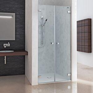 Распашная дверь в нишу из 2 частей DuschoLux Collection 2 (профиль - серебро, стекло - прозрачное с CareTec)