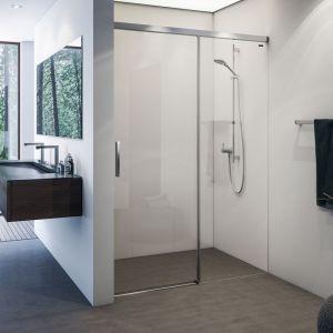Раздвижная дверь в нишу DuschoLux Bella Vita 3 Plus (профиль - матовое серебро, стекло - прозрачное)