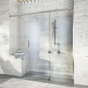 Раздвижная дверь в нишу DuschoLux Bella Vita 3 (профиль - матовое серебро, стекло - прозрачное)