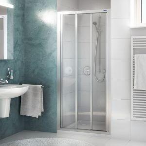 Раздвижная дверь в нишу DuschoLux Allegra (профиль - матовое серебро, стекло - прозрачное с CareTec)