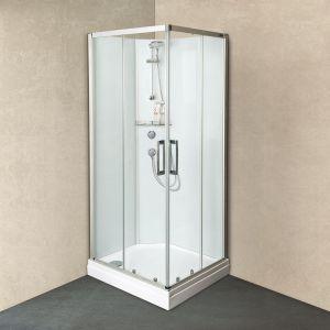 Душевая кабина DuschoLux Cabinet (профиль - матовое серебро, стекло - прозрачное)