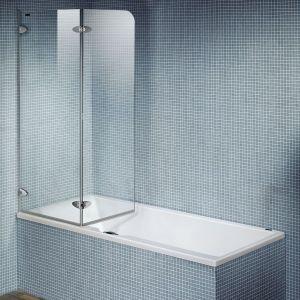 Складная шторка DuschoLux Collection 2 (профиль - серебро, стекло - прозрачное)
