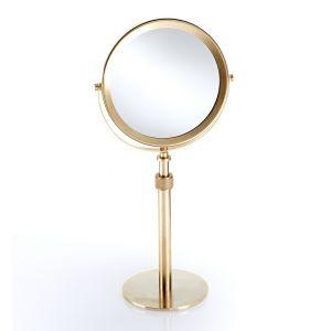 Зеркало косметическое, 5x + 1x увеличительное Decor Walther, золото матовое