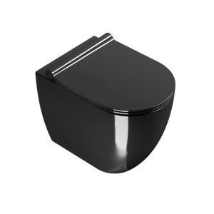 Унитаз приставной Catalano Sfera с сиденьем Soft Close, чёрный глянцевый