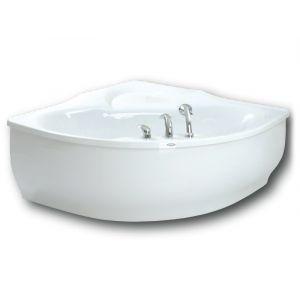 Ванна акриловая Paa Bolero 145 × 145 cм с панелью и полотенцедержателем + сифон
