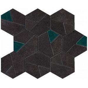 Мозаика Atlas Concorde Boost Tarmac Mosaico Hex Jade 25 x 28,5 см