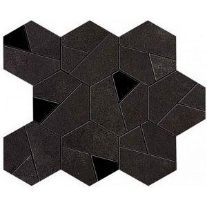 Мозаика Atlas Concorde Boost Tarmac Mosaico Hex Black 25 x 28,5 см