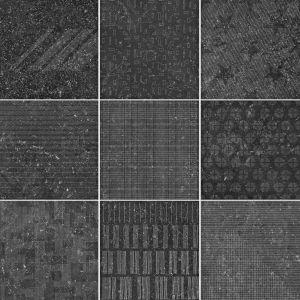 Декор 41 zero 42 Pietre41 Triple Black Outline MIX 20 х 20 см