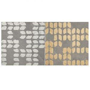 Декор Quintessenza Ceramiche Superfici20 tracce3 mix slate grigio 20 х 20 см