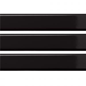 Настенная плитка Quintessenza Ceramiche Tinte nero lucido 5 х 25 см