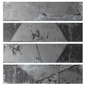 Декор настенный Quintessenza Ceramiche Fuoricitta graffiti zinco 7 х 28 см