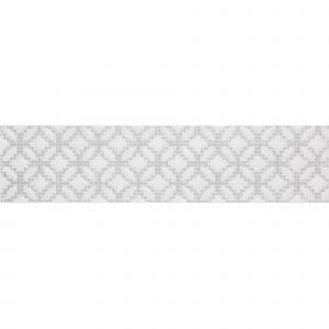 Декор настенный Quintessenza Ceramiche Cromia26 puntocroce A bianco/grigio 6,5 x 26,6 см