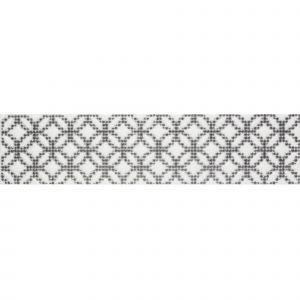 Декор настенный Quintessenza Ceramiche Cromia26 puntocroce B grigio/nero 6,5 x 26,6 см