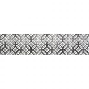 Декор настенный Quintessenza Ceramiche Cromia26 puntocroce C bianco/nero 6,5 x 26,6 см