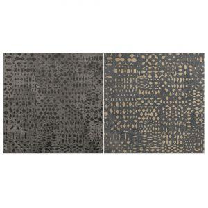 Декор Quintessenza Ceramiche Superfici20 tracce2 mix roccia antracite 20 х 20 см