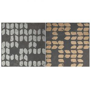 Декор Quintessenza Ceramiche Superfici20 tracce3 mix slate antracite 20 х 20 см