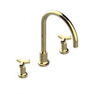 Смеситель на борт ванны THG Les Ondes (цвет - золото)