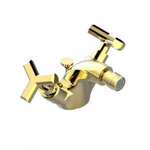 Смеситель для биде THG Les Ondes (цвет - золото), с донным клапаном
