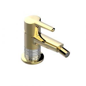 Смеситель для биде THG System Сristal (цвет - золото), с донным клапаном