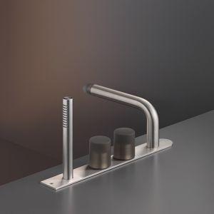 Смеситель на борт ванны Cea Design Up&Down (цвет - хром/антрацит серый), с душевым гарнитуром