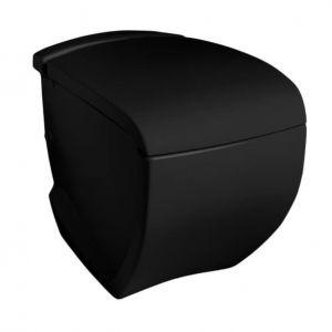 Унитаз подвесной ArtCeram Hi-Line с сиденьем Soft Close, черный глянецевый