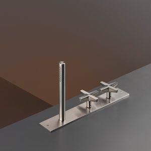 Смеситель на борт ванны Cea Design Cross (цвет - хром), с душевым гарнитуром