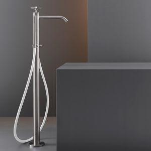 Смеситель для ванны напольный Cea Design Cross (цвет - хром), с душевым гарнитуром