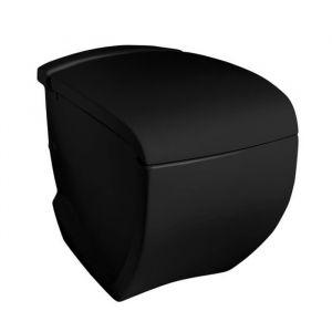 Унитаз напольный ArtCeram Hi-Line с сиденьем Soft Close, черный глянецевый