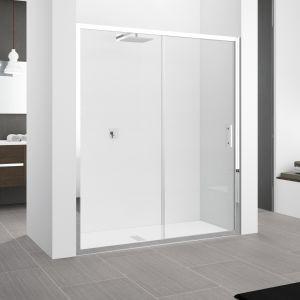 Душевые двери Novellini Zephyros 136-142x195h прозрачное/хром