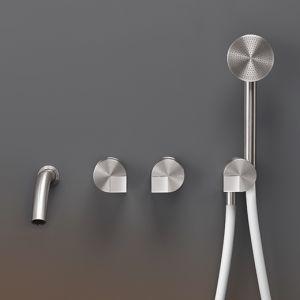 Смеситель для ванны настенный Cea Design Duet (цвет - хром), с душевым гарнитуром
