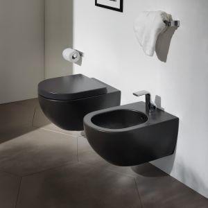 Унитаз подвесной, Goclean® безободковый Flaminia App с сиденьем Soft Close, чёрный