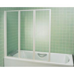 Шторка для ванны Ravak VS3 130 (белый + Rain)
