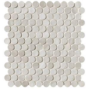 Мозаика Fap Ceramiche Brickell White Round Mosaico Matt 29,5 x 32,5 см (8,5 мм)