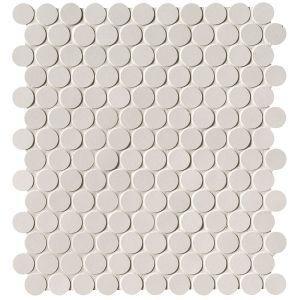 Мозаика Fap Ceramiche Milano Floor Bianco Round Mosaico Matt 29,5 x 32,5 см