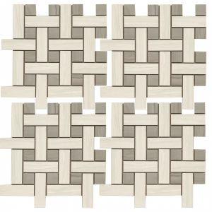 Мозаика Zeus Ceramica Marmo acero Perlato Bianco 30 х 30 см (9,5 мм)