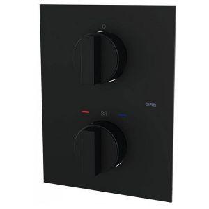 Термостат для душа на 2 потребителя GRB Kala (цвет - чёрный матовый)