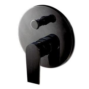 Смеситель для душа на 2 положения Vema (цвет - чёрный матовый), в комплекте с внутренней частью