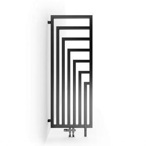 Дизайн-радиатор Terma Angus DW с нижним подключением 146 х 52 см, чёрный