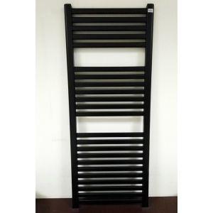 Водяной радиатор Caleido Oval 1233 х 500 мм, чёрный матовый